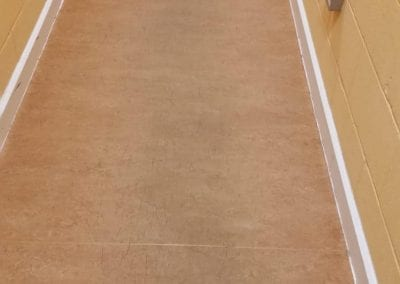 After hard floor cleaning