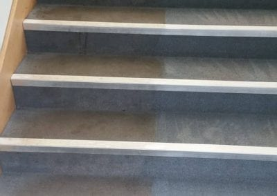 Staircase cleaning before and after