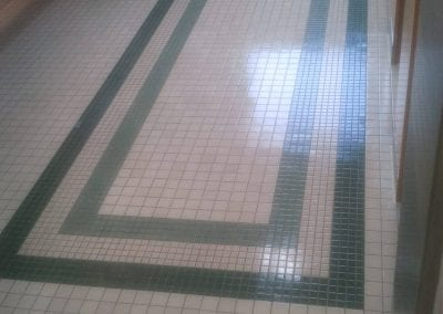 Tile floor after cleaning